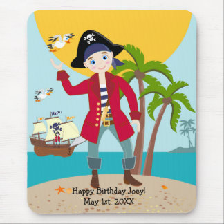 Pirate kid birthday party mouse pad