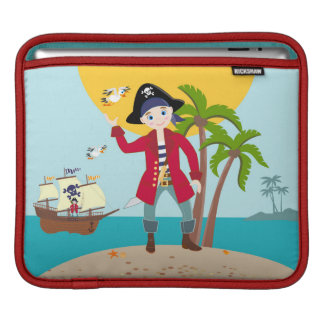 Pirate kid birthday party sleeves for iPads