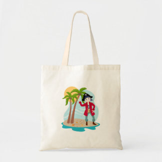Pirate kid birthday party tote bag