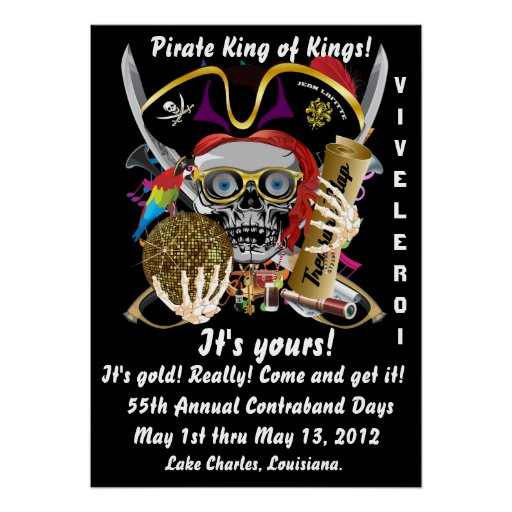 Pirate King of Kings Lafitte Important View Hints Poster