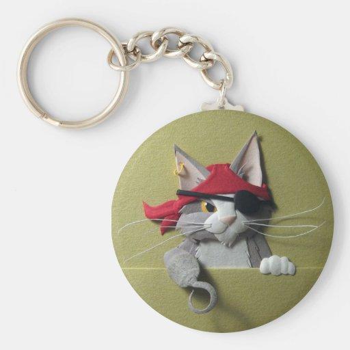 Pirate Kitten #2 Keychain
