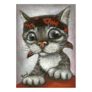 Pirate kitten business card template