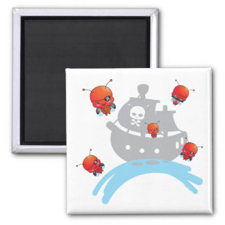 Pirate Ladybugs Magnet