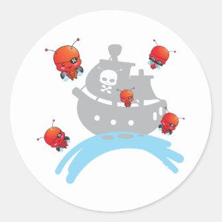 Pirate Ladybugs Sticker