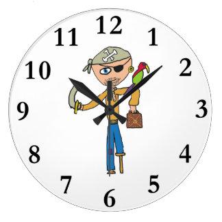 Pirate Large Clock