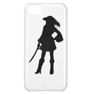 Pirate Lass Silhouette iPhone 5C Cover
