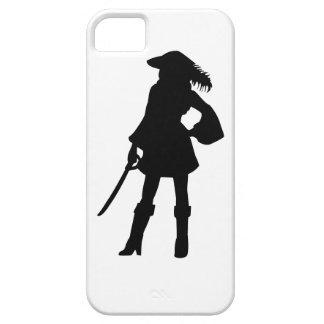 Pirate Lass Silhouette iPhone 5 Case