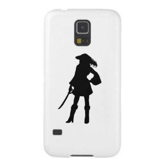 Pirate Lass Silhouette Galaxy S5 Cover