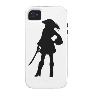 Pirate Lass Silhouette Case For The iPhone 4