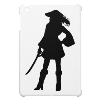 Pirate Lass Silhouette Cover For The iPad Mini