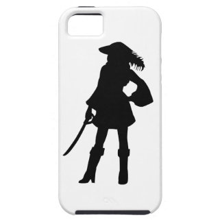 Pirate Lass Silhouette iPhone 5 Cases