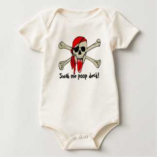 Pirate Laurent Drapeau with extra long tongue Baby Bodysuit