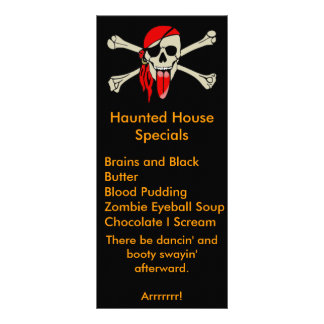 Pirate Laurent Drapeau with extra long tongue Personalized Rack Card