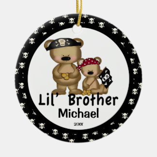 Pirate Little  Brother Christmas Ornament