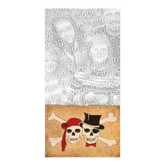 pirate love photo card