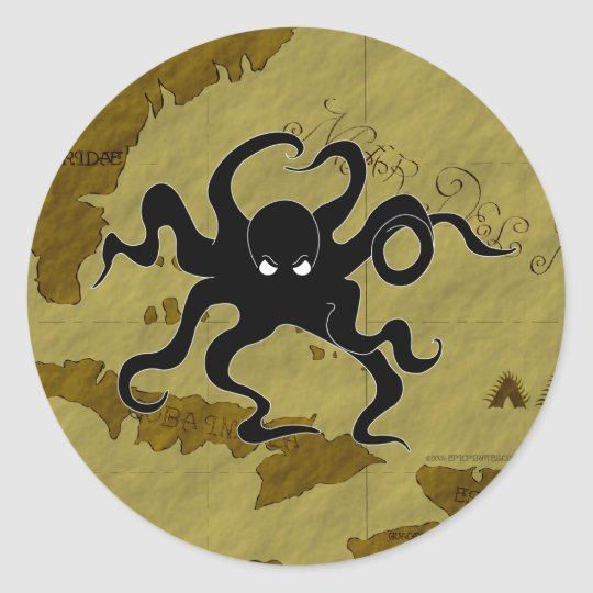 Pirate Map #1 Classic Round Sticker
