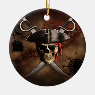 Pirate Map Christmas Ornament