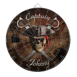 Pirate Map Custom Dartboard