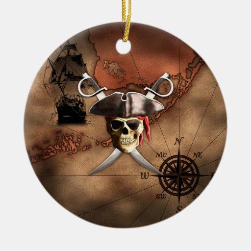 Pirate Map Ornament