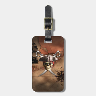 Pirate Map Luggage Tag