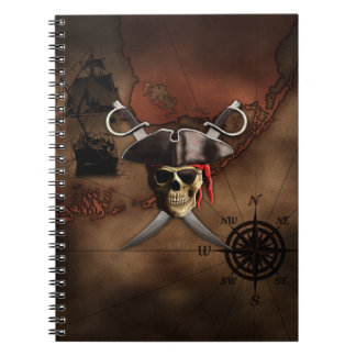Pirate Map Notebook