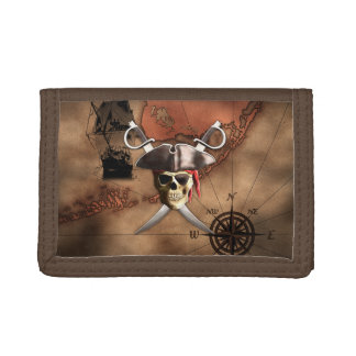 Pirate Map Tri-fold Wallets