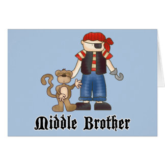 Pirate Middle Brother Note Card