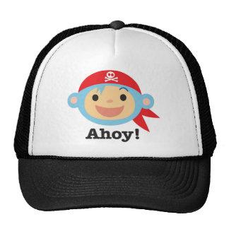 Pirate Monkey Trucker Hat