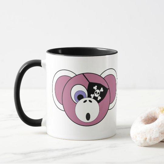 Pirate Monkey Pink Girly Jungle Animal Eyepatch Mug