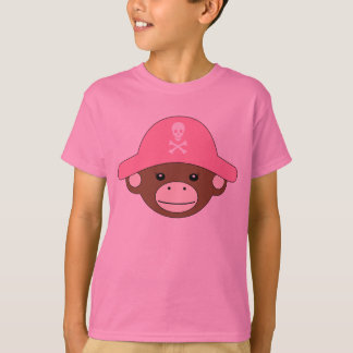 Pirate Monkey Pink T-Shirt