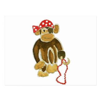 Pirate Monkey Postcard