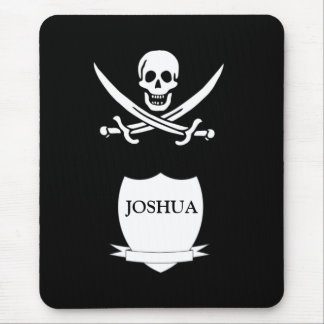 Pirate & monogram mouse mat