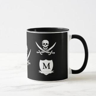 Pirate & monogram mug