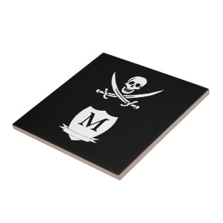 Pirate & monogram tile