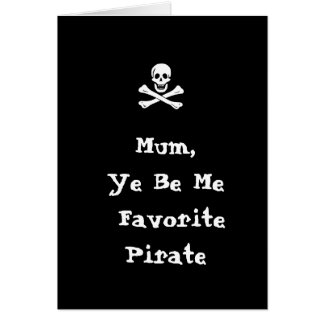 Pirate Mother's Day Card