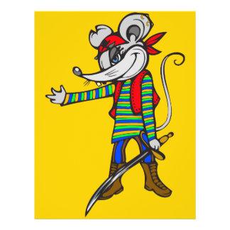 Pirate Mouse 21.5 Cm X 28 Cm Flyer