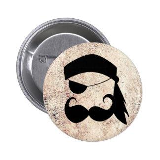 Pirate Mustache 6 Cm Round Badge