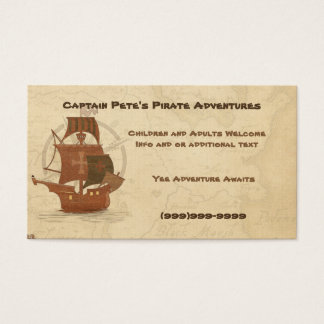 Pirate Mystery Ship Business Card