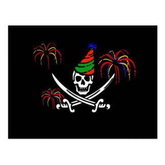 Pirate New Year's Eve Party Invitation Postcard