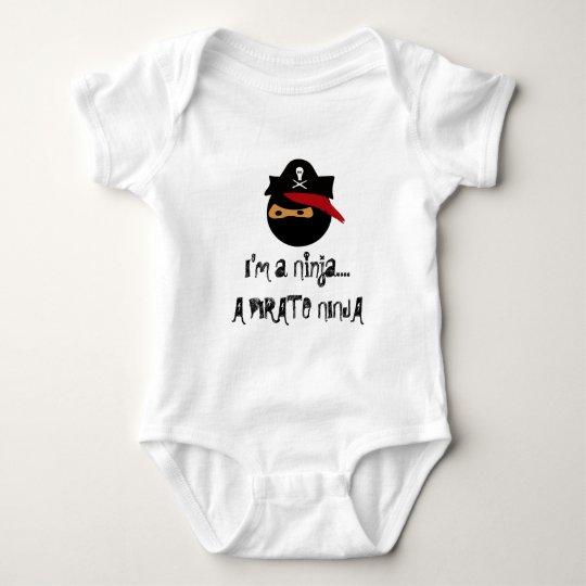 pirate ninja, I'm a Ninja....A PIRATE NINJA Baby Bodysuit