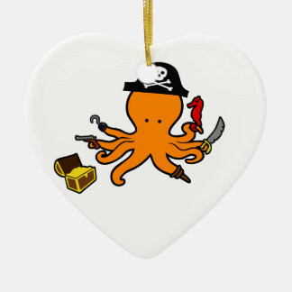 Pirate Octopus Christmas Ornament