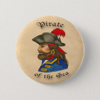 Pirate  of the Sea 6 Cm Round Badge