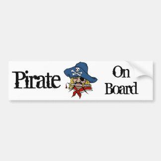 Pirate on Board Car Bumper Sticker