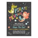 Pirate or Mermaid birthday invitation Joint Bday