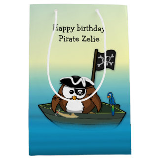 pirate owl gift bag