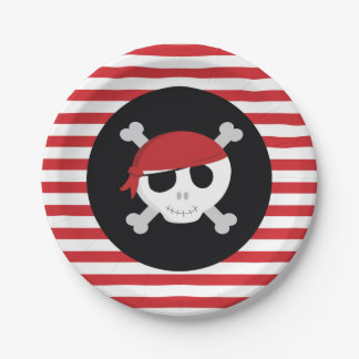 Pirate Paper Plates 7 Inch Paper Plate