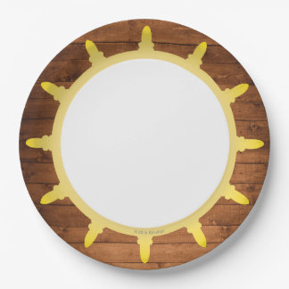 Pirate Paper Plates 9 Inch Paper Plate