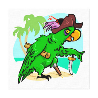 Pirate Parrot Canvas Print