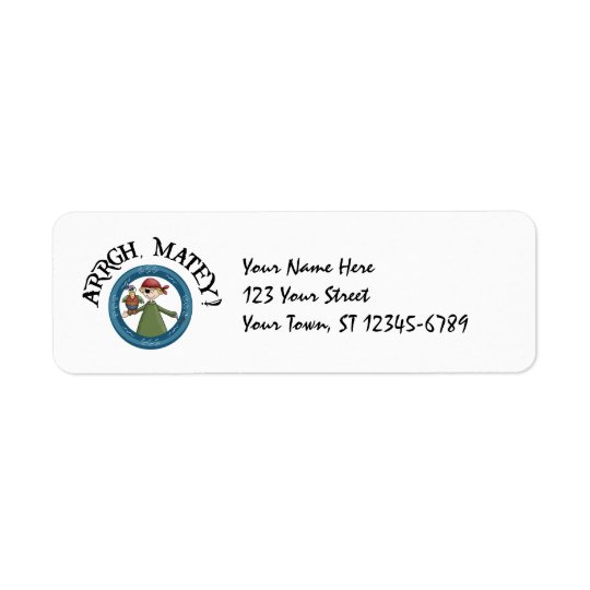 Pirate Parrot Label Return Address Label