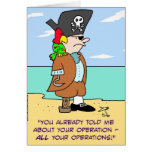 pirate parrot told about operations cards